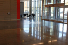 The Richards Group lobby flooring and various common spaces feature Bomanite VitraFlor custom polished concrete, and this durable and decorative product choice was the perfect fit to enhance the modern and sophisticated style throughout the building.