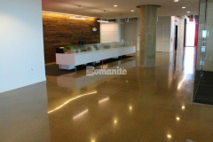 Over 70,000 SF of Bomanite VitraFlor was installed here to create decorative and durable custom polished concrete flooring, offering features like slip resistance and breathability to optimize health and safety, and resulting in a stunning polished flooring surface that enhances the interior finishes.