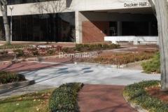 Anderson University Decker Hall Plaza renovation using Bomanite Imprint Bomacron Running Bond Used Brick pattern in Anderson, Indiana.