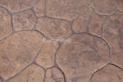 Bomanite Imprint Systems with Bomacron-Textured and Pattern Imprinted Concrete using Bomacron Creek Stone Pattern at the Washington NE 36th Street Bridge Roundabout in Redmond, WA.