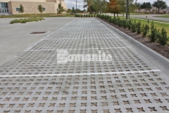 Bomanite Grasscrete was installed in this parking lot to create a pervious concrete surface that will decrease the overall impervious percentage on the site and allow for proper stormwater drainage.