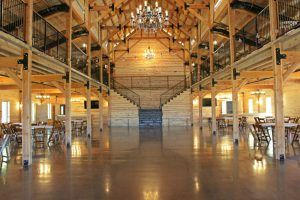 Bomanite Vitraflor Polished Concrete is perfect for this Chapel Creek Ranch Texas event center floor