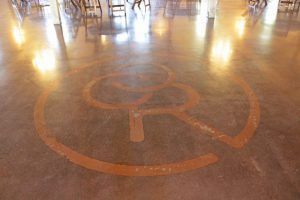 Bomanite Vitraflor Polished Concrete is featured on the floor of The Chapel Creek Ranch Event Center.