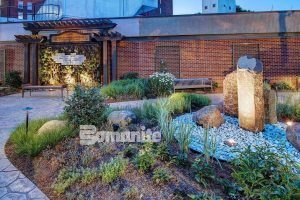 This Healing Garden is successful because of the use of Bomanite Imprint Systems using Bomanite Bomacron.